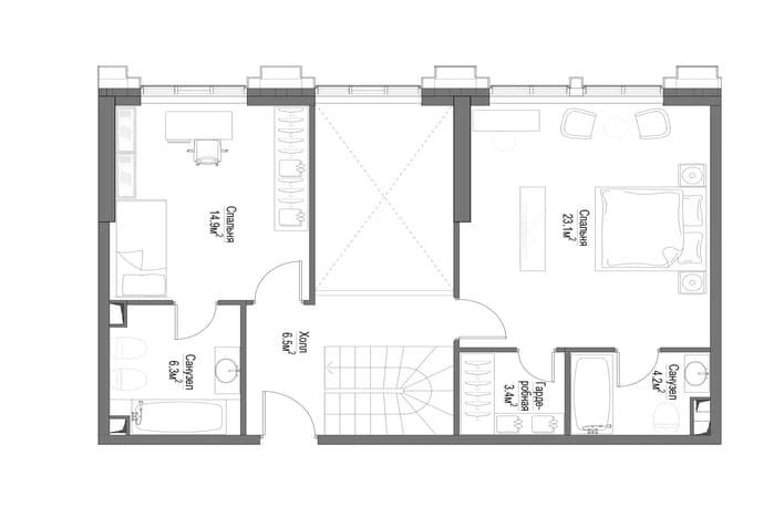 План квартиры второй этаж
