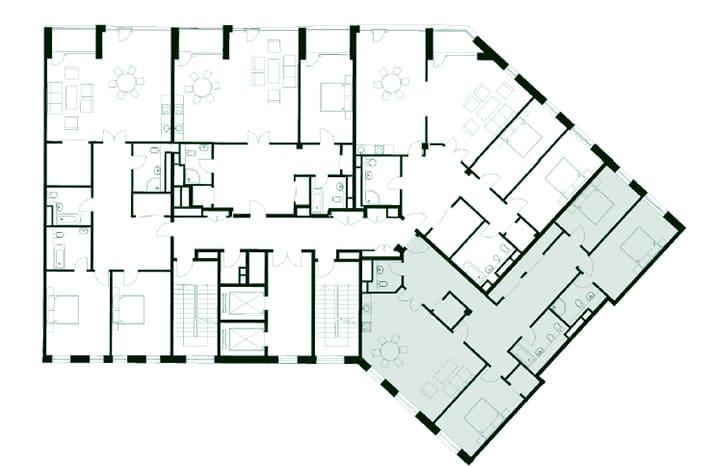 Квартира на Новокузнецкой. План этажа