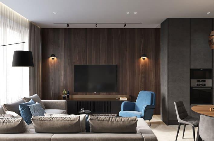 Квартира ЖК Хэдлайнер дизайн интерьера