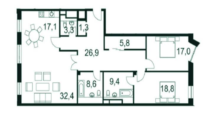 План квартиры на Садовнической