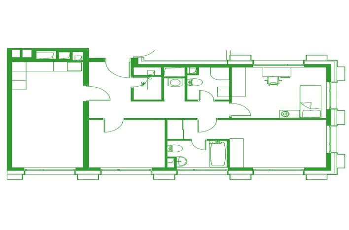 Апартаменты бизнес-класса. План