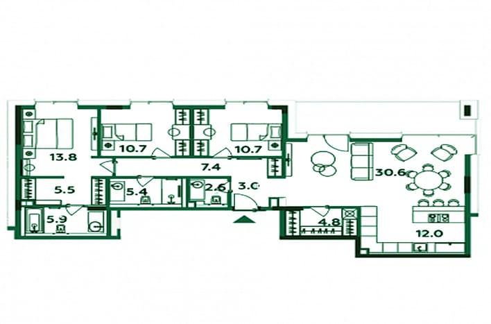 Апартаменты на Савеловской. План