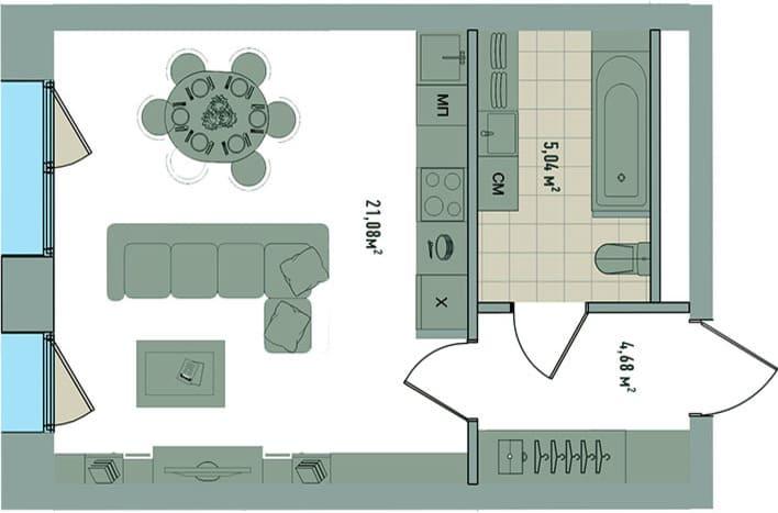 Апартаменты на Зорге. План