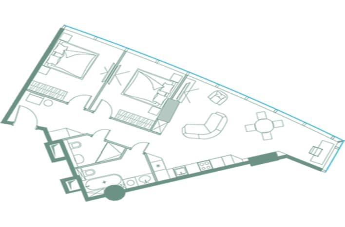 Апартаменты в Башне Федерация. План