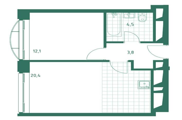 Апартаменты в ЮАО. План