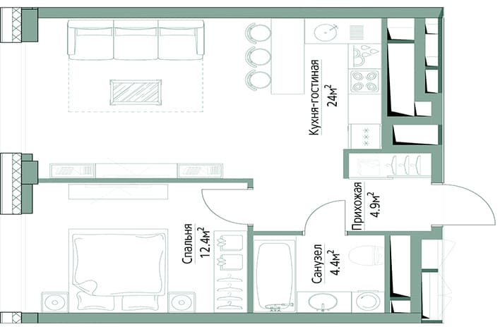 Квартира метро фили. План