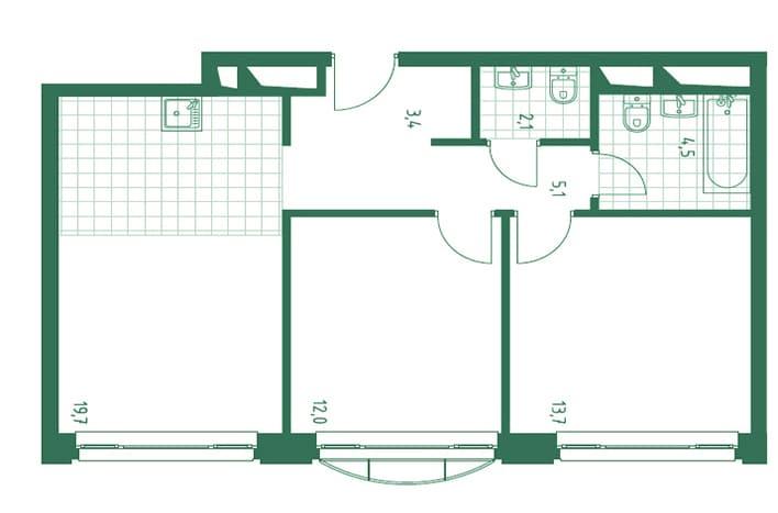 Квартира на Нагатинской. План