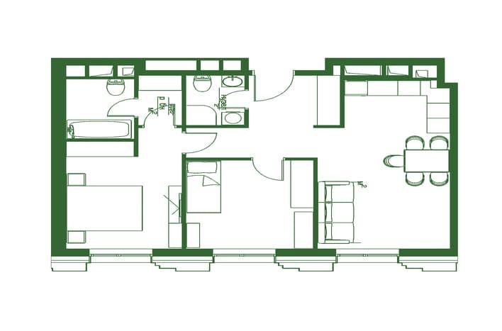 Квартира на Пресненском валу. План