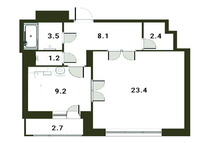 Квартира на Вавилова План