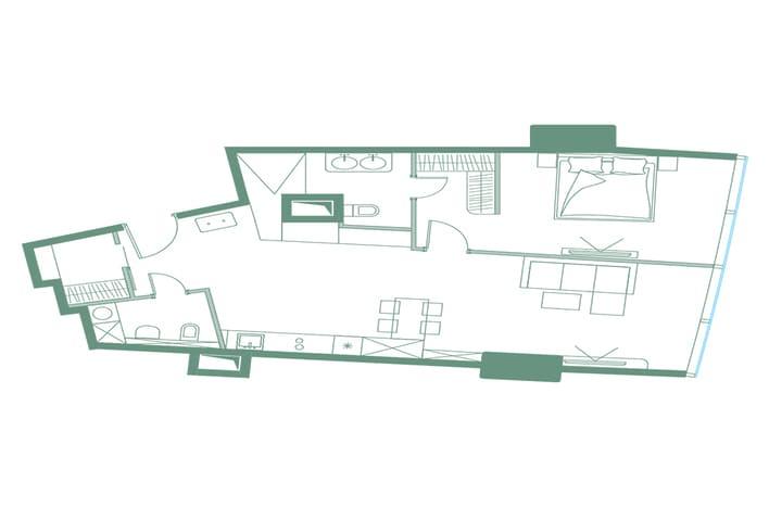 План квартиры в небоскребе