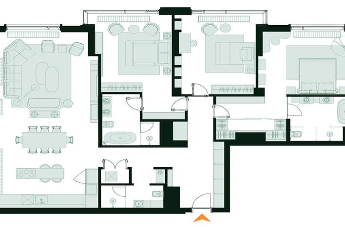 Квартира в Дорогомилово. План