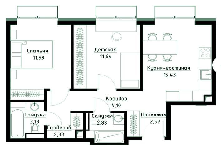 Квартира в ЮВАО. План