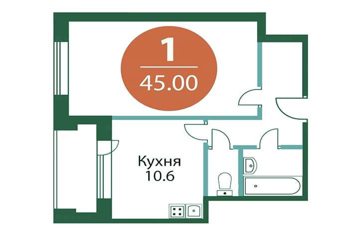 Квартира на Лихачева. План