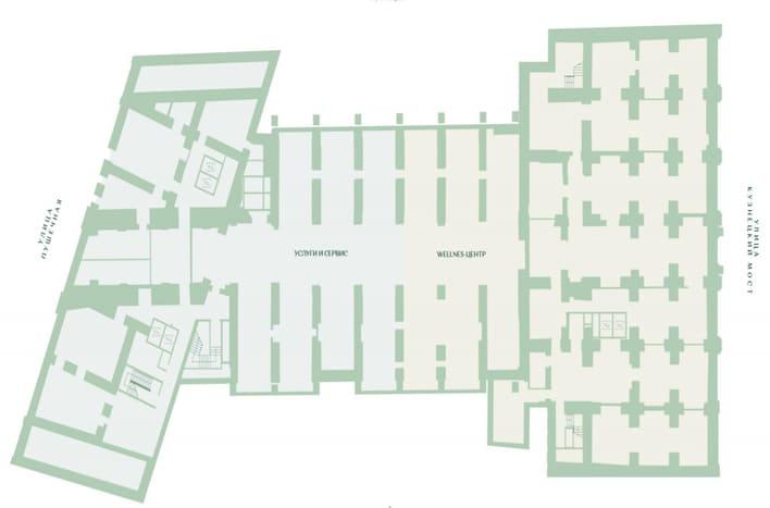 План 1 этажа. ЖК