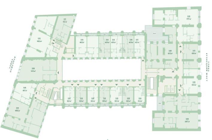 План 3 этажа. ЖК