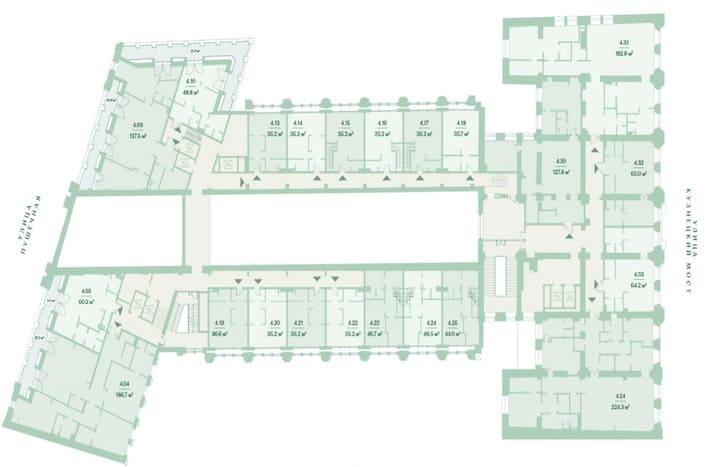План 4 этажа. ЖК