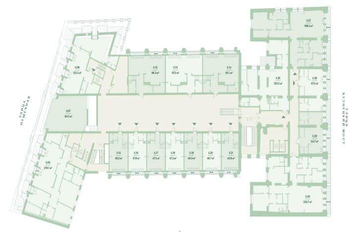 План 5 этажа. ЖК