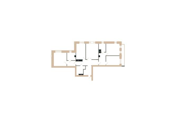 План квартиры четырехкомнатной