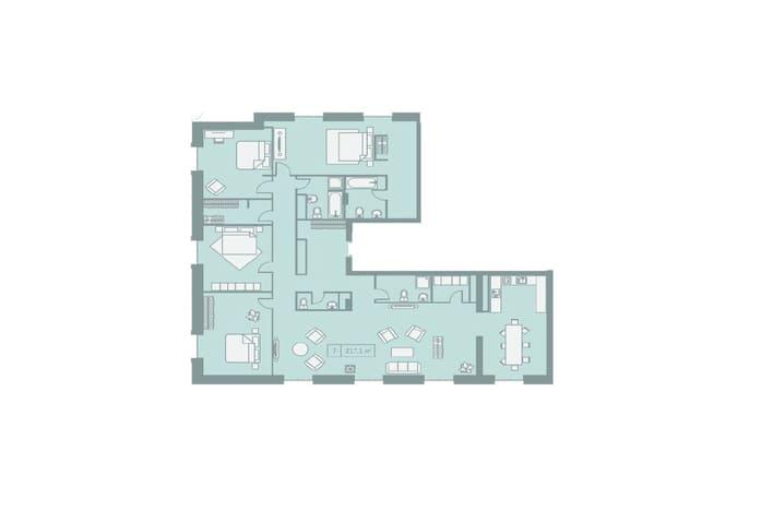 Клубный дом Кутузовский 12 план