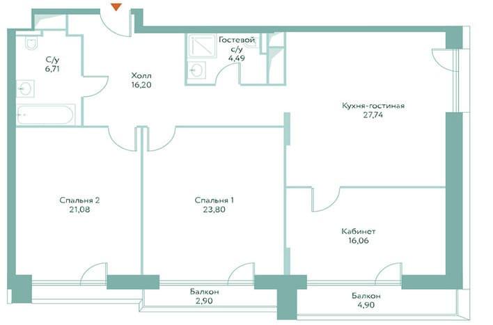 Апартаменты премиум-класса. Планировка