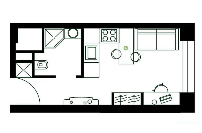 Квартира на Амурской. Студия