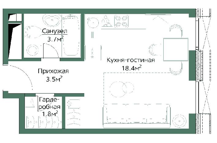 Студия на Дмитровской. План