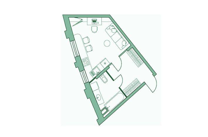 Квартира на Лобачевского, планировка