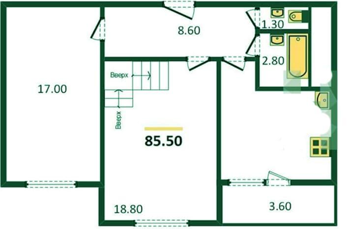 План квартиры первый этаж