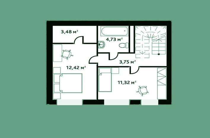 План квартиры 2 этаж